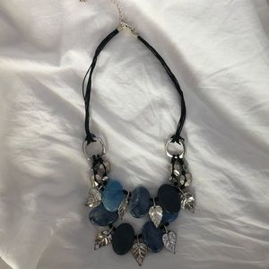 Beautiful Blue and Silver Necklace